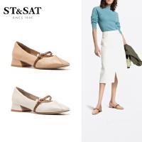 ST&SAT星期六2019春夏新款单鞋平底玛丽珍仙女女鞋SS93111033
