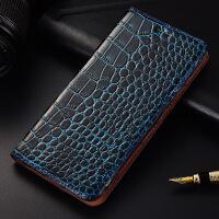 联想X3手机壳C50真皮套翻盖C70保护套X3 Lite防摔硅胶手机套鳄鱼 联想X3 Lite/A7010 鳄鱼纹蓝色