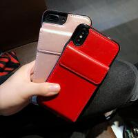 iPhone8plus手�C�ぬO果XS max皮套��s男女新款�W�t潮牌6S/7P/XR iphoneX/XS新款插卡皮套