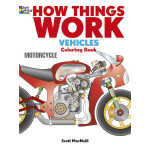 How Things Work -- Vehicles Coloring Book (【按需印刷】)
