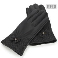 皮手套男士冬季保暖触屏手套冬天骑车加绒加厚防水防风骑行摩托车 均码