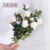 仿真玫瑰花套装花束假花客厅餐桌摆件花艺插花花瓶干花摆设装饰品