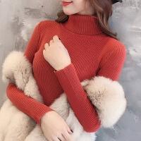 半高领针织衫女长袖紧身打底衫短款内搭秋冬套头百搭修身毛衣 S