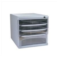 得力9794/四层硬塑料文件柜/(带锁)得力文具9794 文件柜