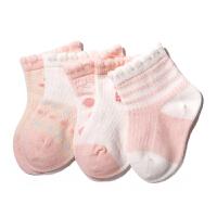 宝宝袜子夏袜子0-6-12个月松口棉婴儿女童袜薄款