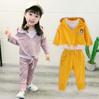 儿童秋季2018新款宝宝套装3-4岁女孩三件套韩版休闲装