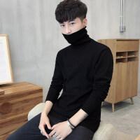 男士修身打底衫高领毛衣纯色针织衫长袖韩版冬季加厚线衫男装