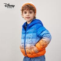 【3件3折券后价:130.1元】迪士尼男童羽绒服梭织轻薄连帽85%绒羽绒服上衣