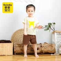 【29.9元3件】歌歌宝贝婴儿短袖套装夏季宝宝圆领半袖薄款幼儿新款纯棉夏