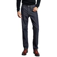 网易严选 男式活性染直筒商务牛仔裤