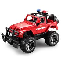 儿童玩具男孩儿童遥控越野车警务车电动充电汽车模型玩具