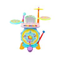 宝宝早教兴趣架子鼓乐器儿童弹奏敲打声光音乐玩具鼓