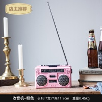 家用北欧创意复古老式收音机电视机摆件橱窗客厅酒柜咖啡馆装饰品道具SN9061