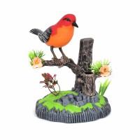 仿真声控小鸟电动感应鹦鹉会叫会动会说话宠物鸟笼儿童玩具