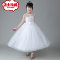 女童公主裙蓬蓬纱儿童主持人晚礼服小花童生日婚纱裙钢琴演出服夏销售