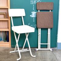 折叠椅子布艺便携家用靠背椅餐椅凳子电脑椅现代简约时尚创意户外