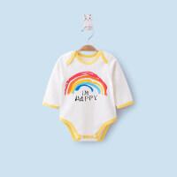 婴儿连体衣春秋冬男女宝宝长袖三角爬哈衣睡衣新生儿包屁衣服