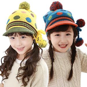 【1件9折 2件8折】kk树儿童帽子冬宝宝帽子秋冬小孩帽子套头帽2-4-8岁男女童帽子鸭舌帽