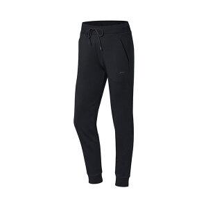 李宁LINING女装卫裤训练系列长裤冬季收口针织运动裤AKLM364-5