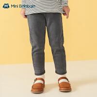 迷你巴拉巴拉女童裤子2020秋季新款舒适宽松牛仔裤百搭薄款长裤