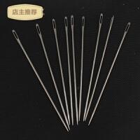 大眼针大粗针长款尖头大孔针封口手缝针皮革针装订凭证缝纫布袋针SN7833