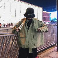 美式工装外套男潮牌飞行员夹克宽松港风bf嘻哈韩版潮流ins学院风