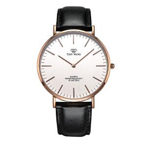 新品天王表男士手表女表时尚表男皮带情侣腕表女士手表休闲石英表3851黑皮带