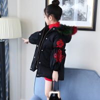 女童棉衣外套冬装2018新款儿童中大童韩版中长款加厚保暖棉袄