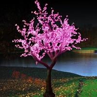 led仿真樱花树灯2米3米防水发光公园装饰灯圣诞树庭院景观树灯