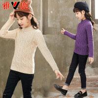 儿童毛衣冬季新款女孩加厚针织衫中大童套头打底毛衫潮