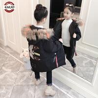 儿童外套棉衣冬季中大童韩版女孩棉服中长款加厚冬