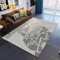 客厅地毯北欧现代简约沙发茶几毯美式几何方可机洗床边卧室大地毯