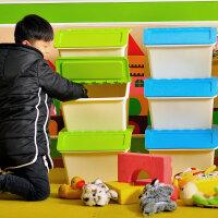 百露厨房储物箱塑料收盖视 收纳箱 整理箱可叠加儿童零食贮物箱婴儿玩具收纳盒整理盒