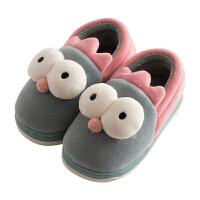 儿童棉拖鞋包跟冬季室内fang滑保暖男孩女孩棉鞋