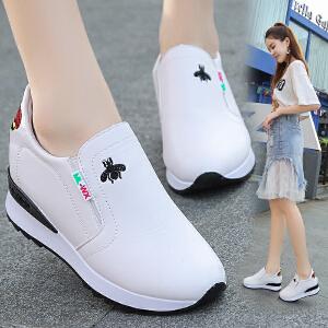 新款内增高单鞋女一脚蹬舒适休闲女鞋