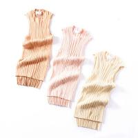 【冰点直降】J@3 秋季无袖纯色圆领显瘦连衣裙韩版时尚中长裙