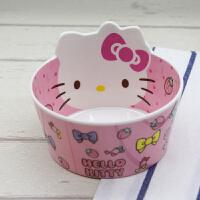 hellokitty 碗套装 可爱凯蒂猫KT仿瓷小米碗卡通儿童餐具套装防摔米饭碗学生家用碗筷