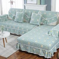 沙发垫布艺防滑沙发坐垫子四季通用沙发套全包�f能套罩巾全盖欧式