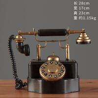复古怀旧电话机道具模型铁艺摆件酒吧咖啡厅摆设客厅电视柜装饰品
