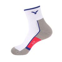 威克多Victor SK134男款运动袜 含棉透气专业羽毛球袜中筒袜