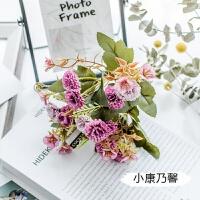 欧式秋色康乃馨仿真花束教师母亲节礼物塑料假花店铺摆设