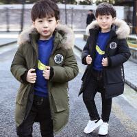 儿童冬季2018新款棉服中长款男孩厚款韩版中大童外套潮