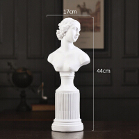 轻奢风格摆件 北欧维纳斯石膏雕像创意摆件ins风人物小雕塑样板房轻奢摆设