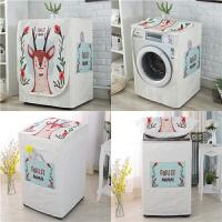 棉麻海尔美的小天鹅松下通用洗衣机罩波轮全自动上开滚筒防水套子