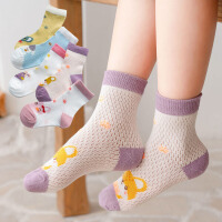 儿童袜 男女童春夏薄款卡通网眼2021清新可爱儿童袜透气棉质袜子童袜儿童袜子