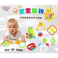 10件套摇铃儿童咬牙玩具婴幼儿幼儿园Q22-5地摊