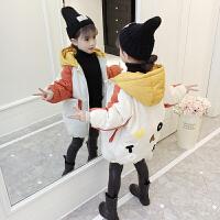 儿童棉衣2018新款冬季韩版中长款女孩加厚外套棉服潮