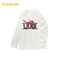 【11.11开门红3件4折叠券价:35.7】巴拉巴拉儿童男童长袖t恤2021新款纯棉上衣中大童打底衫印花时尚