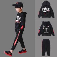 儿童装男童秋装套装2018新款中大童卫衣两件套男孩10-15岁韩版潮