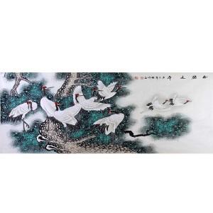 中国美协会员,中国书协会员 侯桂峰(松鹤延年)20